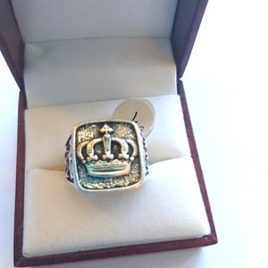 Vintage Crown Silver Ring Jewelry